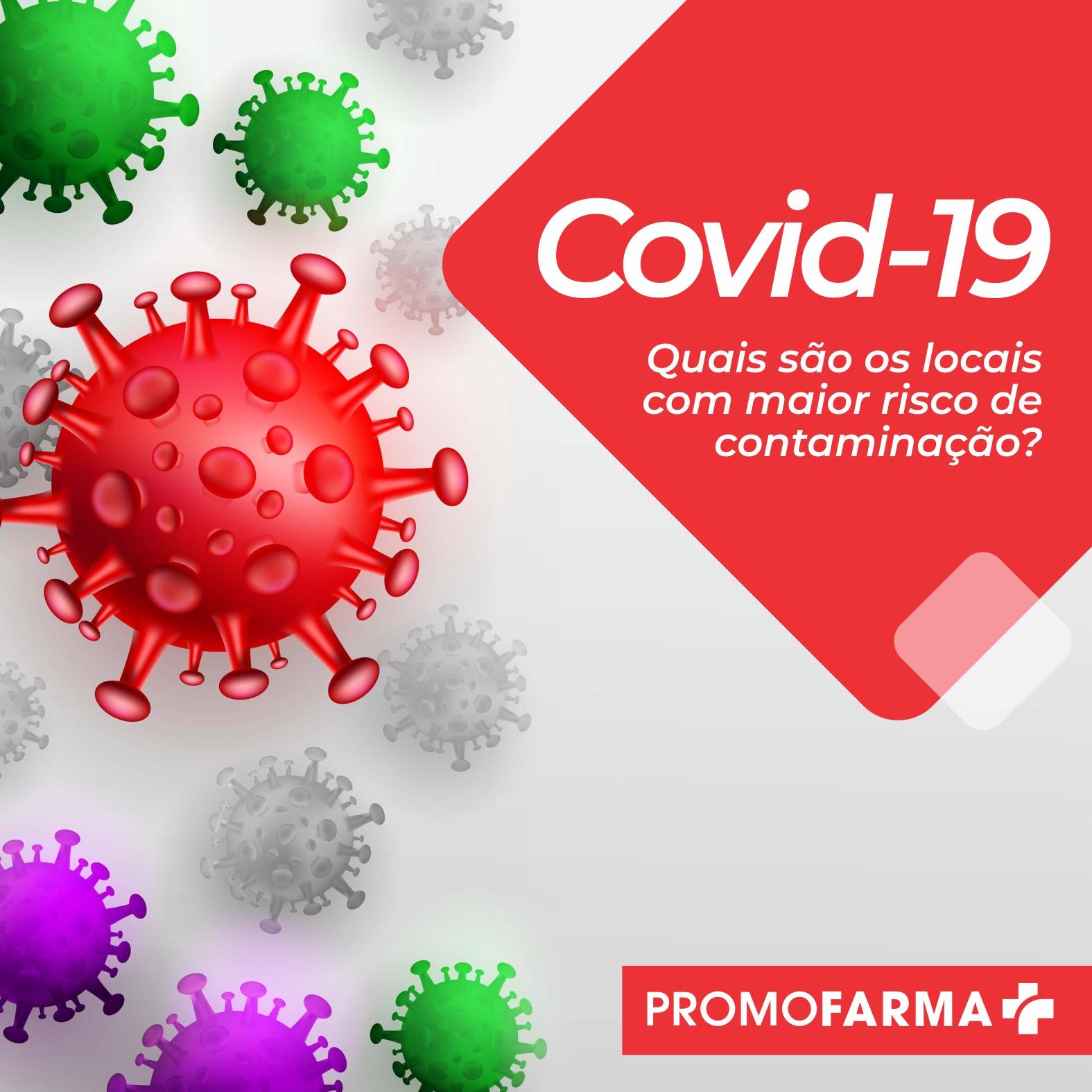 Você sabe quais são os locais com maior risco de contaminação de Covid-19?