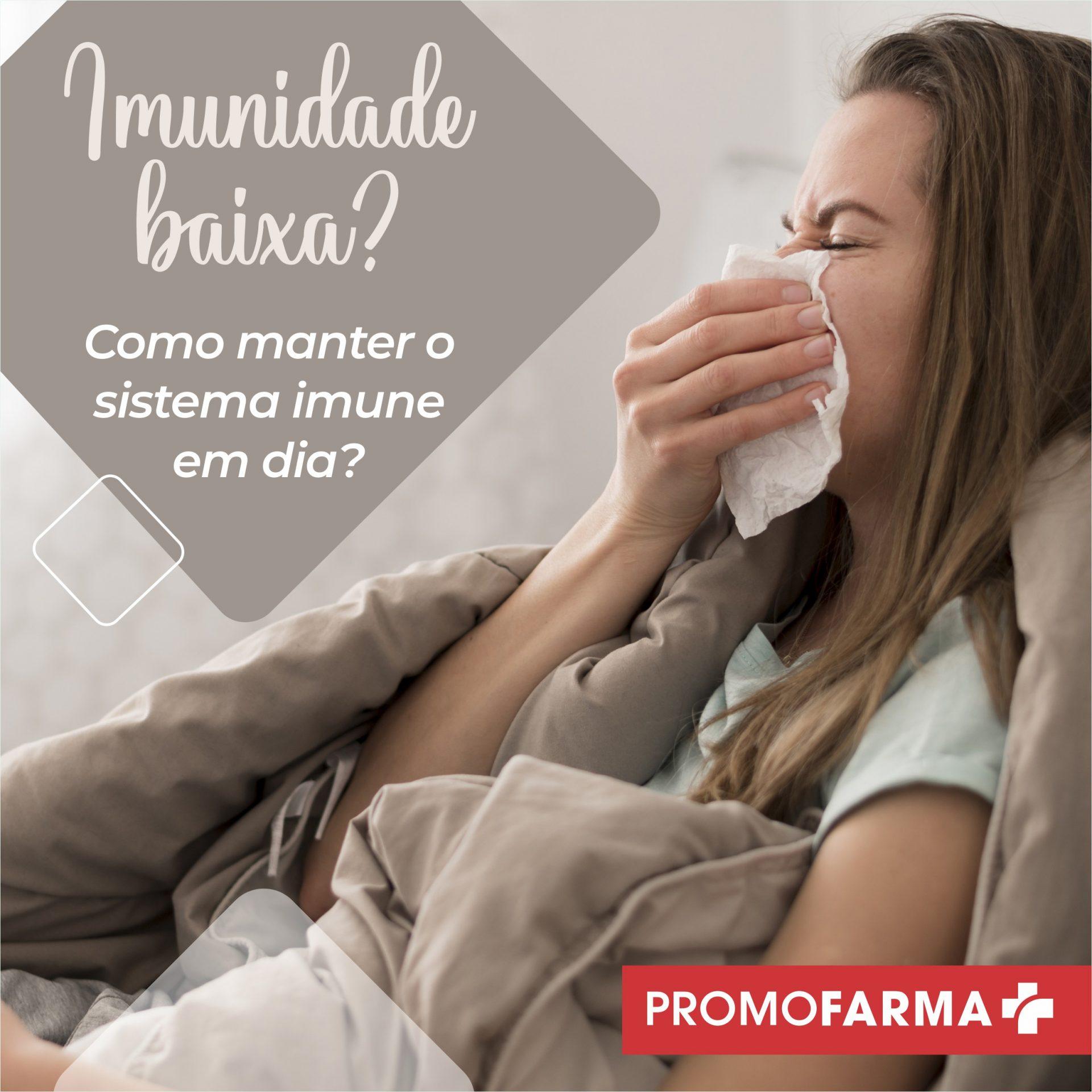 Imunidade baixa: como melhorar o seu sistema imunológico?